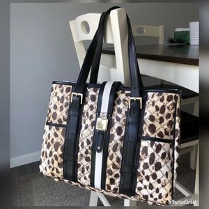 L.A.M.B by Gwen Stefani Leopard Large Tote bag.